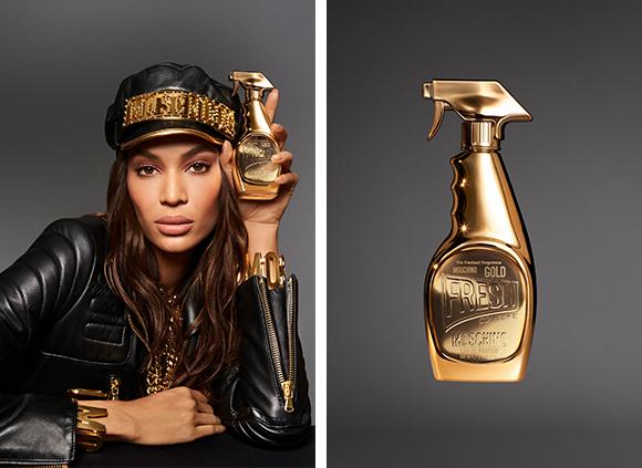 Gold fresh couture joan smalls moschino eau de beaux