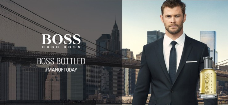 Boss Bottled  Chris Hemsworth eau de beaux