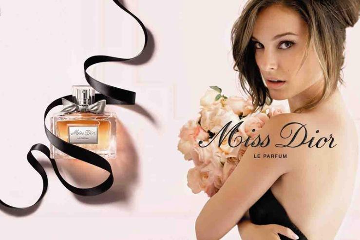 Miss dior le parfum ad eaude beaux natalie portman