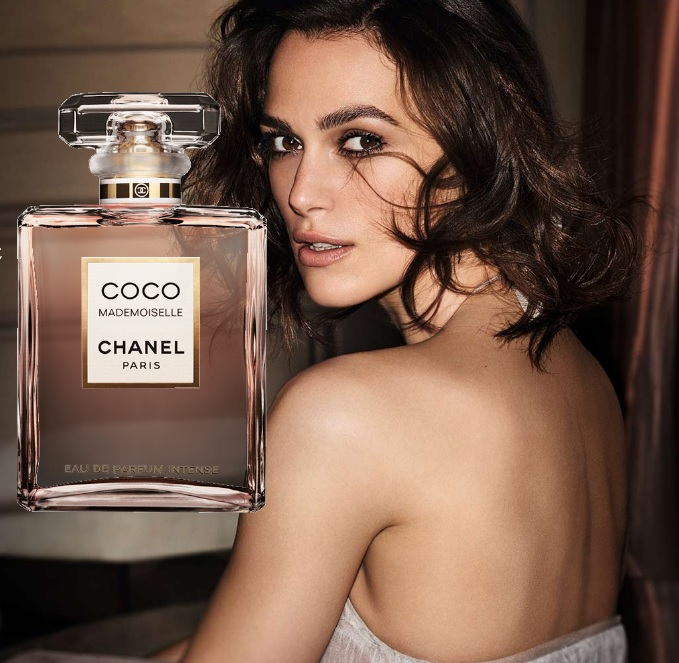 Keira Knightley coco mademoiselle intense chanel eau de beaux