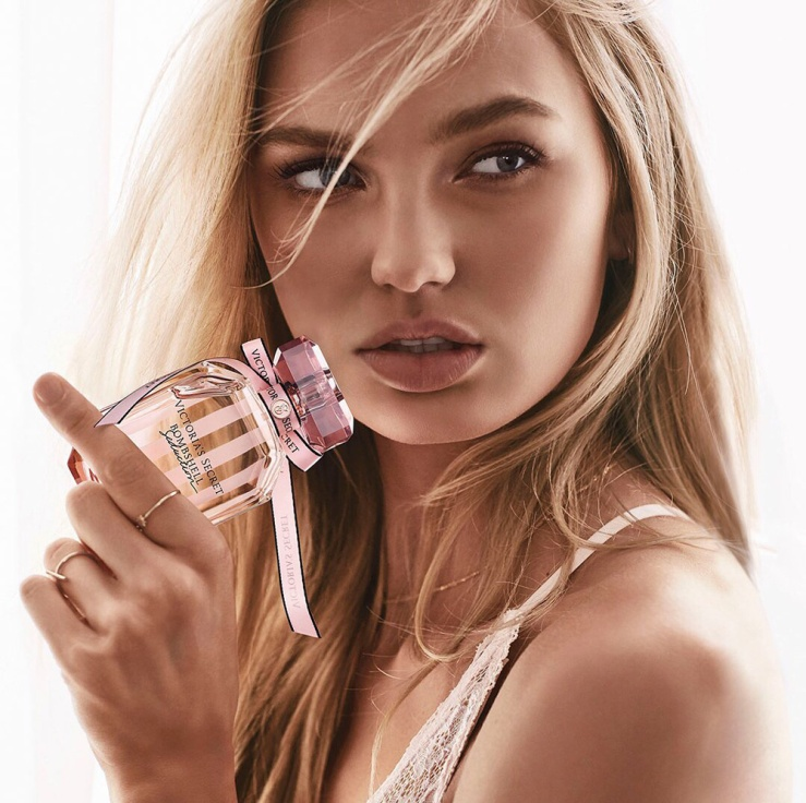 "Romee Strijd  Victoria's Secret ""Bombshell Seduction"" Fragrance 2018"