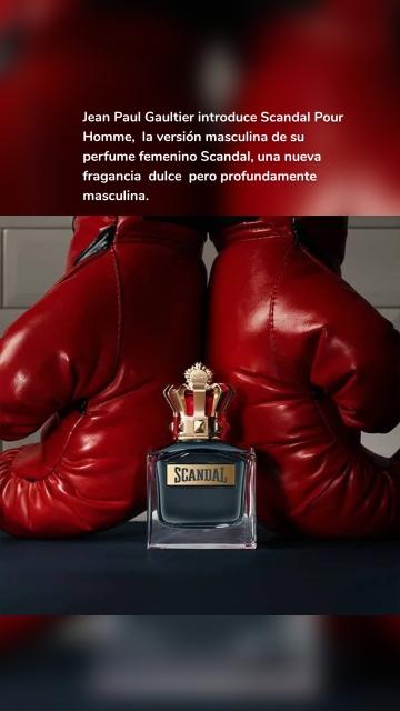 Jean Paul Gaultier introduce Scandal Pour Homme, la versión masculina de su perfume femenino Scandal, una nueva fragancia dulce pero profundamente masculina.